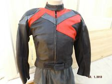 FRANK THOMAS LADIES LEATHER M/C JACKET,SIZE 14UK ,LINED,SOFT ARMOUR,VERY CLEAN