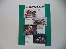 advertising Pubblicità 1989 DUNLPOP e YAMAHA YZ 250/HONDA NSR 125