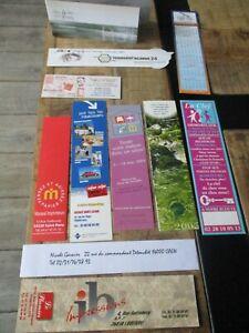 Marque pages collectors-Lot-Thème,publicitaire,imprimerie,immobilier...