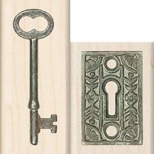 Inkadinkado Wood Stamp Set, Lock 'n Key