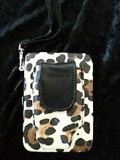 Leopard Print Wristlet *NEW* Wallet Clutch Cell Phone Lipstick ID Coins Cards