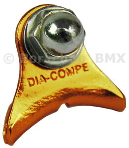 Dia-Compe 1242 bicycle canti cantilever center pull brake cable hanger GOLD