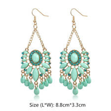 1 Pair Women Dream Catcher Crystal Rhinestone Ear Stud Fashion Earrings Chain