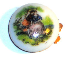 #1463Y Vintage Clasp Cameo Glass Woman Lady Victorian Old One Strand 1 Cameo
