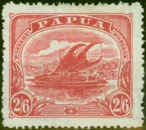 Papua 1911 2s6d Rose-Carmine SG91 Fine Mtd Mint
