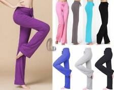 Cotton Blend Casual Stretch Pants for Women