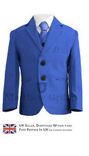 Boys Suit, Dinner Suit, Boys Prom Suits, Royal Blue Burgundy 12 Month - 14 Year