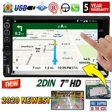 """2 Din Car Stereo 7"""" HD Bluetooth Radio Video Phone Rear View Link for GPS Map"""