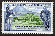 ST CHRISTOPHER NEVIS ANGUILLA 1957 ALEXANDER HAMILTON BICENTENARY  MNH