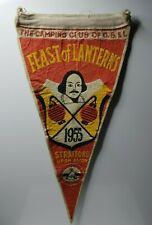 "British camping club National Feast of Lanterns 1955 Stratford avon pennant 12"""