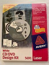 Avery Labels White Cd Dvd Design Kit Labels Laser Jewel Case 30 Insert Set 5691