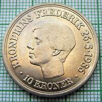 DENMARK 1986 10 Kroner - Margrethe II Crown Prince's Birthday, UNC