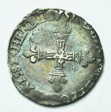 1582 France 1/4 Ecu Silver Coin Rare
