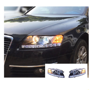 For Audi A6 LED Headlights LED DRL 2005-2011 Replace OEM Headlight Sequential
