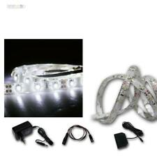 (10,55 €/ M) Set LED Strips 4x1m + Transformer Cold White 60 Smds Band, bar 4m