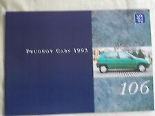 Peugeot 106 range brochure 1993