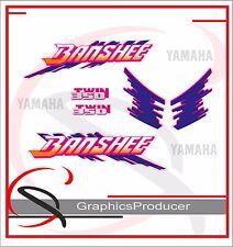 Yamaha Banshee Decals 1993 White Model Graphic Reproduction Custom Full Set