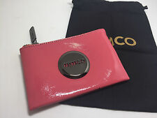 BNWT MIMCO SMALL MIM POUCH WALLET Hydrange gun metal LEATHER RRP69.95