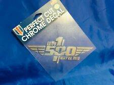 Indianapolis Indy 500 2016 100th Anniversary Logo CHROME DECAL New!