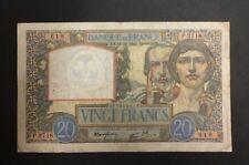 FRANCE  20 FRANCS SCIENCE ET TRAVAIL de 1940  ETAT : TB  Réf. P 2718