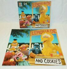 "Sesame Street vintage Puzzle 24 pieces 12.5 x 15"" 1989 Muppets Big Bird MINT"