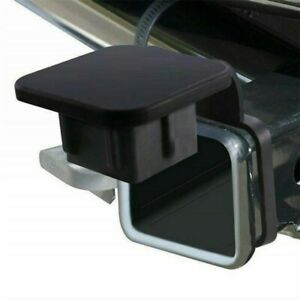 """For Toyota Jeep Mercedes 2"""" Rubber Trailer Receiver Hitch Cover Plug Black CN"""