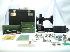 HUGE LOT 1936 Singer 221-1 Featherweight Sewing Machine CASE MANUAL WORKING NICE