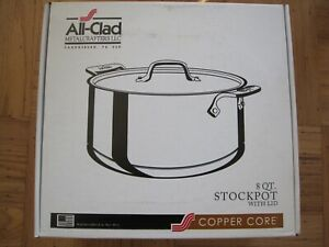 NEW IN BOX ALL CLAD STAINLESS STEEL COPPER CORE 8 QUART STOCKPOT - 6508