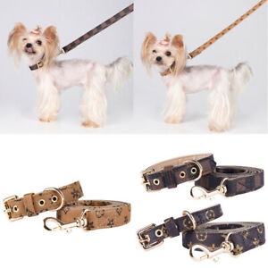 Wow Limited Edition LV (Vuitton) Dog Collar & Matching Lead, Designer