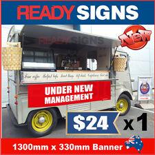 UNDER NEW MANAGEMENT - Banner Sign - 1300mm x 330mm - Australian Made UNM 130002
