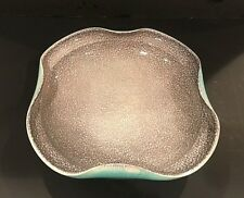 Vintage Bowl marked N.V. Koninklyke Plateelbakkery Zuid Holland Gouda Gray Aqua