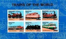 Bhutan 1996 Locomotives SC#1132 MNH Cat. Value = TRAINS, RAIL TRANSPORT