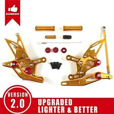 Fit Yamaha YZF R1 2009 - 2014 2010 2011 New Racing Rearset Footrests Foot Pegs