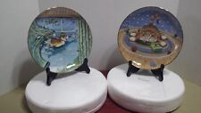 Curtain Call~Happiness Lot/2 Gary Patterson Comical Cats Danbury Mint Plates