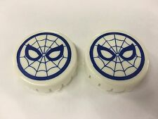 Gottlieb Spiderman Pinball Machine Playfield Pop Bumper Cap Plastic - Set of 2
