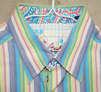 Robert Graham Large Stripe Dress Shirt L Men Button Down Long Sleeve