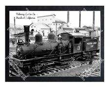 Historic Pickering Lumber Co. - Standard, California Train Postcard