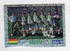 figurina USA 94 SERVICE LINE NUMERO 124 BOLIVIA SQUADRA