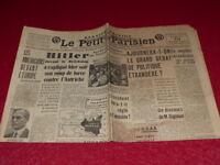 """[PRESSE AVANT-GUERRE] """"LE PETIT PARISIEN"""" 19 MARS 1938 / Hitler Autriche"""