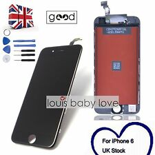 """For iPhone 6 4.7"""" LCD Dispaly Screen Touch Digitizer Frame Replacement Black UK"""