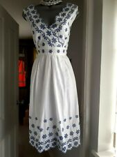 LOVELY COTTON EMBROIDERED SUMMER DRESS,PER UNA SIZE 14