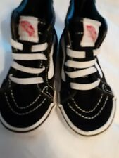 Vans Off The Wall Toddler 5.5 Sk8 High Top Skate Sneakers Shoes black and white