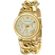 Michael Kors MK3131 Runway Twist Chronograph Gold Tone Ladies Wrist Watch UK