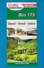 Bus Timetable ~ Derbyshire CC 173: Bakewell Tideswell Castleton - Hulleys - 2006