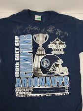 2012 Grey Cup Toronto Argonauts Champions Autographed T Shirt Size Medium M
