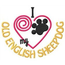 I Heart My Old English Sheepdog Ladies Short-Sleeved T-Shirt 1330-2 Size S - Xxl