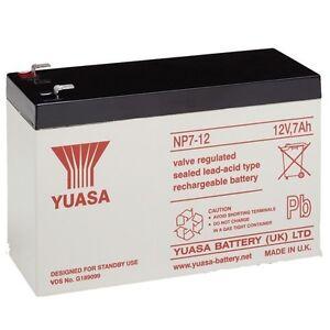 NP7-12 12v 7Ah 20HR GENUINE Yuasa Lead Acid Rechargeable Battery NP6-12