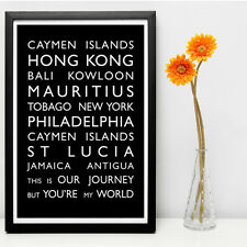 Personalised Destination Bus Blind art poster print (Unframed)