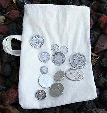 Survival Money Bug Out Collection of  12 90% 35% Silver Coins from a Bygone Era