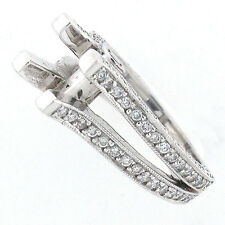 14k Split Shank Diamond Engagement Ring Setting 1.43 TCW - Semi Mount